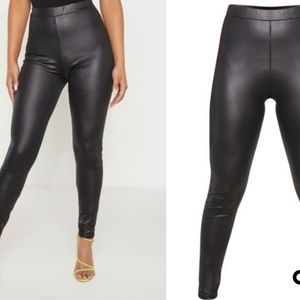 Petite black Fitted leggings